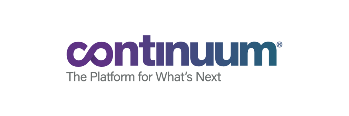 Continuum logo with tagline The Platform for What's Next